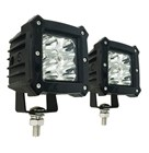 1800 Lumen 3 Inch 20W LED Work Light 9-32VDC Pair