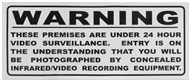 Large Surveillance Warning Sticker