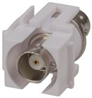 Keystone Insert - BNC to BNC Socket White