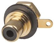 Gold RCA Socket - Black