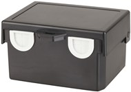 Snap in Enclosure Black 91 X 122 X 69mm