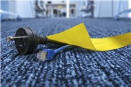 Secure Cord Cable Cover Yellow