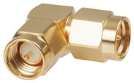 Right Angle SMA Plug to SMA Plug Adaptor