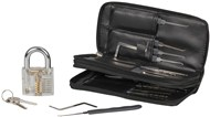24 Piece Lock Picking Kit with Practice Padlock