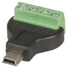 USB 2.0 Mini B Plug to 4-Way Screw Terminal Header Adaptor