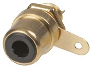 Black - Gold Plated RCA Chassis Socket