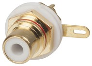 Red HIGH QUALITY RCA Gold INSULATED Socket