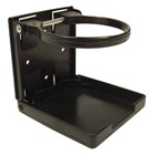 Black Plastic Folding Drink Holder with Adjustable Arms