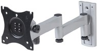 LCD Monitor Swing Arm Wall Bracket with Two Slide-In Locking Plates