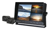 7 Inch 1080p LCD Monitor Kit with Built-In 4CH AHD Vehicle DVR + 2 x Wedge Style Vehicle Cameras