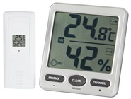 8 Channel Wireless Thermometer/Hygrometer with Jumbo LCD