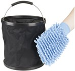 Collapsible Bucket and Wash Mitt Kit