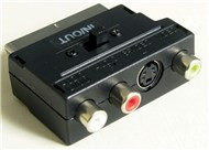 SCART Plug to 3 RCA & S-VHS Socket Adaptor