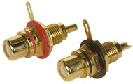 Gold RCA Socket - Red