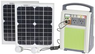 120W Pure Sine Wave Portable Power Pack with 2 x 10W Solar Panels