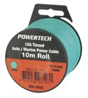 Green 15 Amp DC Power Cable Handy Pack