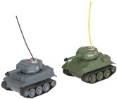 Mini Remote Control Battle Tanks 2pack