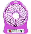 Mini USB Rechargeable Fan with LED Light - Purple