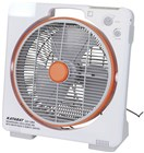 "Rechargeable 14"" Electric Fan with Radio and LED Lamp"