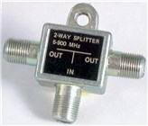 Two Way Splitter - F Connectors - Die Cast