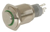 IP67 Rated Illuminated Pushbutton Switch Green