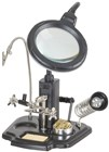 LED Magnifying lamp with third hand