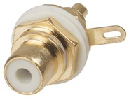 High Quality Gold Insulated Socket - White
