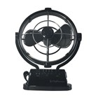 "Sirocco 12-24VDC Gimbal Fan 7"" Three Speed Black"