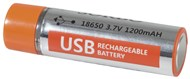 USB Rechargeable 18650 3.7V 1200mAH Li-Po Battery