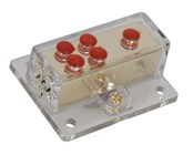 Gold Power Distribution Block - 1 in 4 out