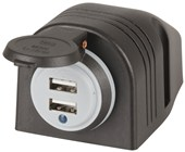 4.2A 2 Port USB Charger with Dust Cap & Power Indicator