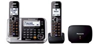 Panasonic Twin Handset Cordless Telephone with Mobile Link & Repeater