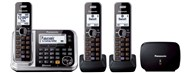 Panasonic Triple Handset Cordless Telephone with Mobile Link & Repeater