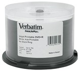 Verbatim DataLifePlus (Azo) DVD+R 4.7 GB White Inkjet Printable 50 Pack Spindle 16x