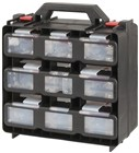 Portable 12 Compartment Storage Cabinet