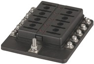 10 Way Blade Fuse Block - Screw Terminal Connection