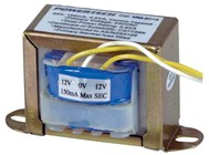 24V, 3.6VA 150mA Centre Tapped - Type 2854 Transformer