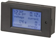 DC Power Meter 6.5-100V 0-20A with built in Shunt and LCD Display