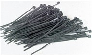 200mm Black Cable Ties - 100