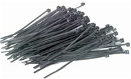 150mm Black Cable Ties - Pk.15