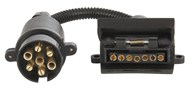 Trailer Adaptor - 7 Pin Large Round Plug to 7 Pin Flat Socket