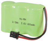 3.6V 600mAH Rechargeable Ni-MH Battery