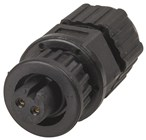 IP67 Harsh Environment Circular Sockets- 2 Pin Line Socket