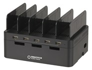 5 Port USB Charging Station with Storage Compartment