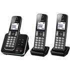 Panasonic Triple Handset Cordless Telephone with Answering Machine