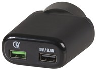Dual USB Mains Adaptor with Single Qualcomm® Quick Charge™ 3.0
