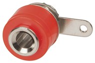 Red 4mm PANEL MOUNT Socket