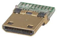 Pre-mounted Mini HDMI Plug with Solder Pads