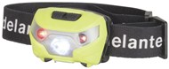 Rechargeable 180 lumen head torch including Red LEDs